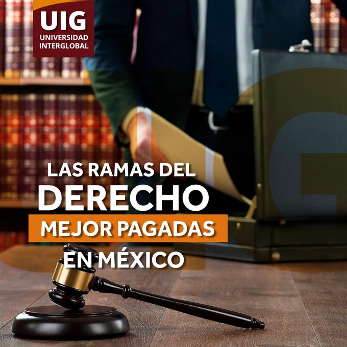 7 ÁREAS DEL DERECHO MEJOR PAGADAS EN MÉXICO.